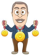 Businessman got lots of medals