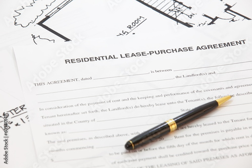 Business Document of Residential lease- purchase agreement