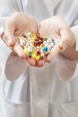 Hand full of pills