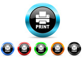 printer icon vector set