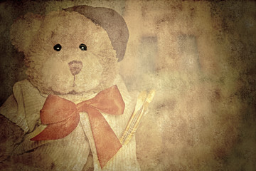 old style teddy painter