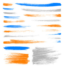 vector color brush strokes