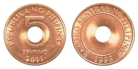 Philippine sentimo coin