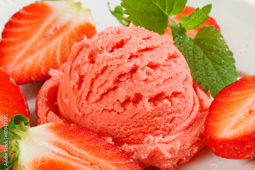 Strawberry sherbet