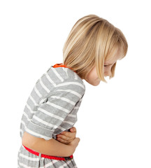 child with stomach ache
