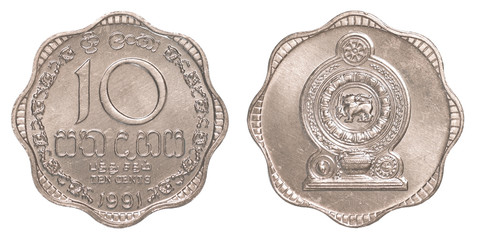 10 Sri Lankan rupee cents coin