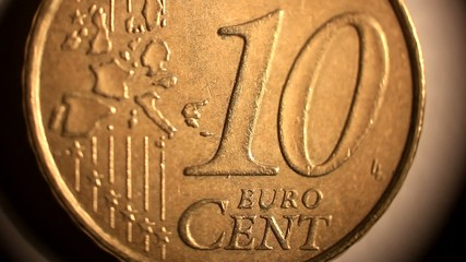Ten Euro cent. Coin of Europian Union.