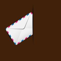 envelope air in a mailbox