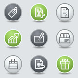 Shopping web icons set 1, circle buttons