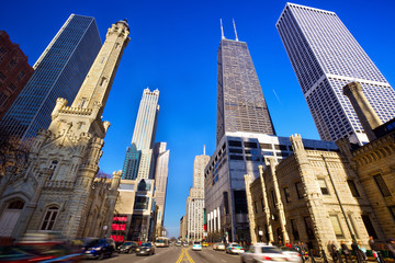 Magnificent Mile in Chicago, IL, US