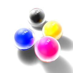 CMYK color balls