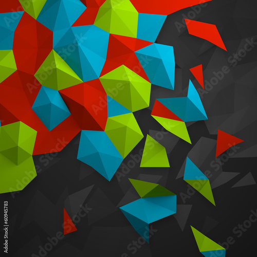 geometrical multicolored background