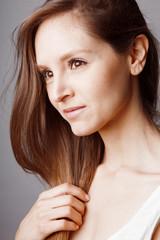 Jeune femme beaute maquillage