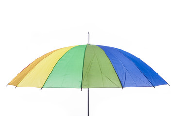 colorful umbrella, isolated on white background