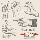 Handy Hands - Vector Hands Set