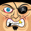 Square Faced Angry Pirate