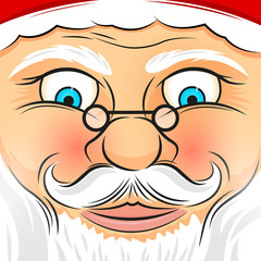 Square Faced Santa Claus