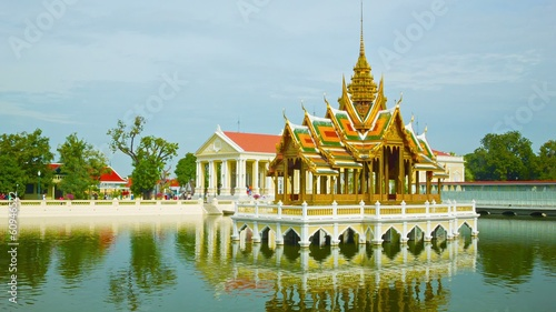 Thailand, Ayuthaya, panorama of Bang Pa-In Palace
