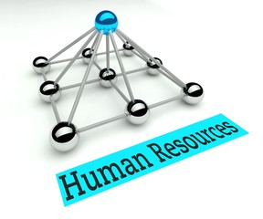 Human resources concept, Hierarchy with pyramid