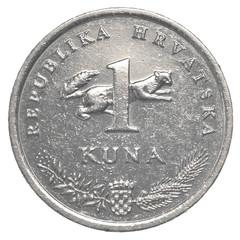 one croatian Kuna coin
