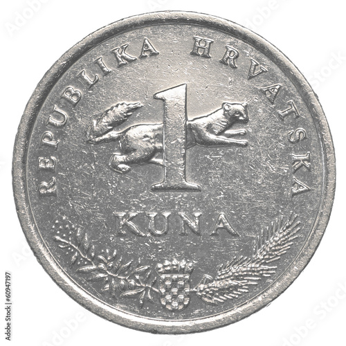 one croatian Kuna coin