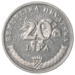 20 croatian lipa coin