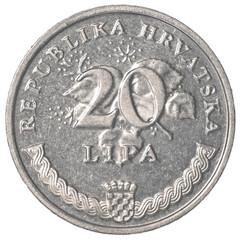 20 croatian lipa coin