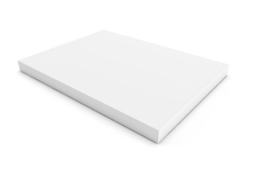 Flat big white box on white background