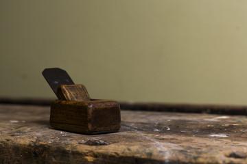 old miniature wood planer