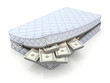 Money in the mattress - 3D savings concept