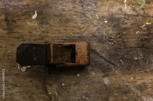 old miniature wood planer
