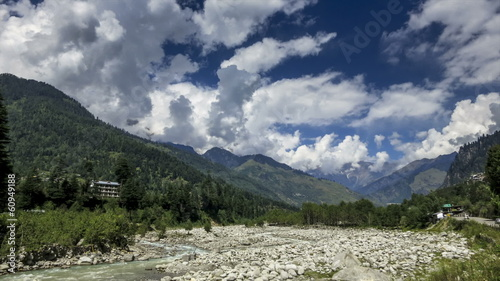 Manali river mountains time lapse