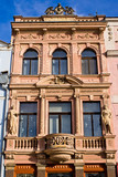 Tenement house with statues poster