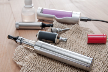 E-cigarette on table