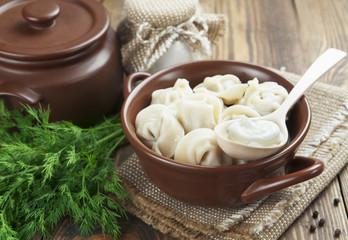 Dumplings with meat