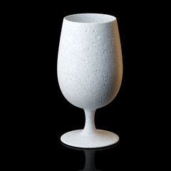 Cognac Or Wine Glass On Black Background