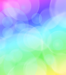 colorful abstract background with circles of light