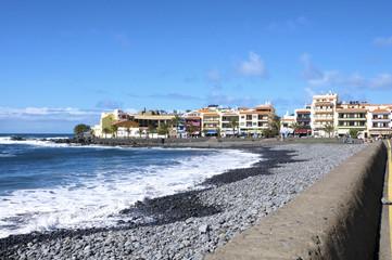 Kieselstrand vor La Playa im Valle Gran Rey auf Gomera