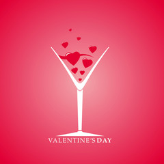 Valentine's Day cocktail