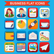 Business flat vector icons set