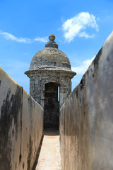 Turret on Wall of El Morro in San Juan Puerto Rico