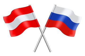 Flags: Austria and Russia