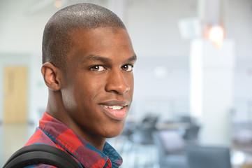 Portrait of Student Inside School