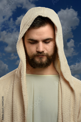 Portrait of Jesus Outdoors