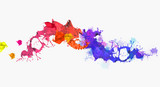 Colorful splashes