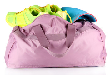 Sports bag isolated on white