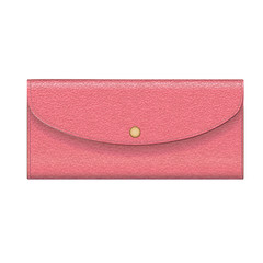 Leather purse pink.