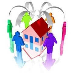 Immobilienkauf - viele Interessenten, Mieter