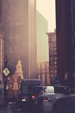 Fototapety Retro Styled Downtown USA