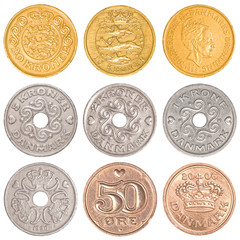 denmark circulating coins collection set
